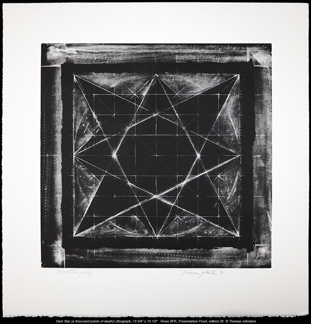 Dark Star – hand drawn lithograph on stone