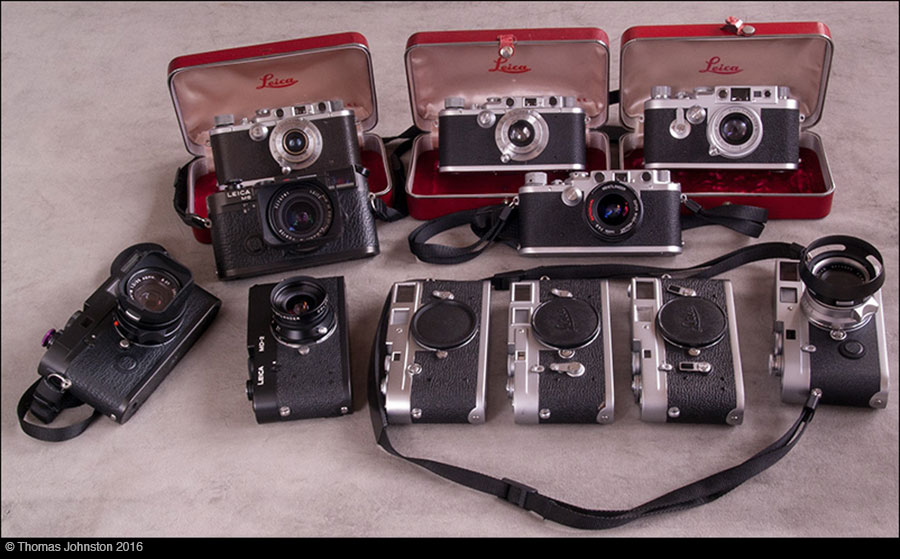 Leica Collection &  a IIIf DeConstructed